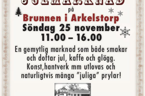Bild - Julmarknad på Brunnen i Arkelstorp