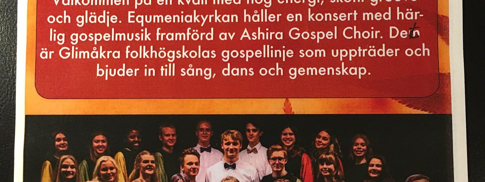 Bild - Gospelkonsert med kör från Glimåkra folkhögsk
