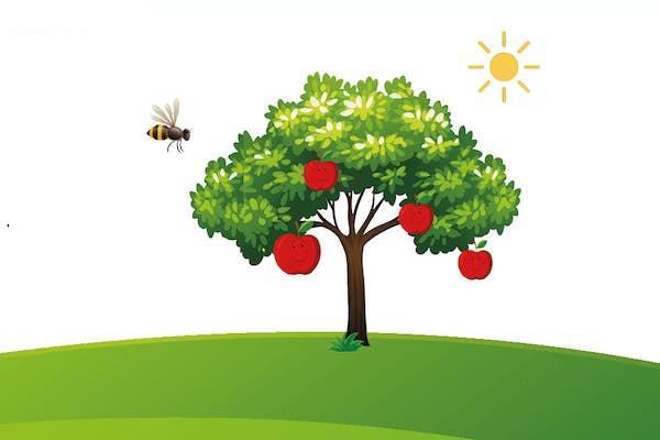 Bild - Sagan om det lilla äppelträdet