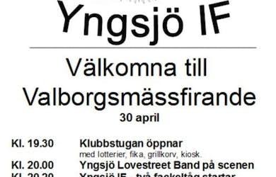 Bild - Valborg med Yngsjö IF