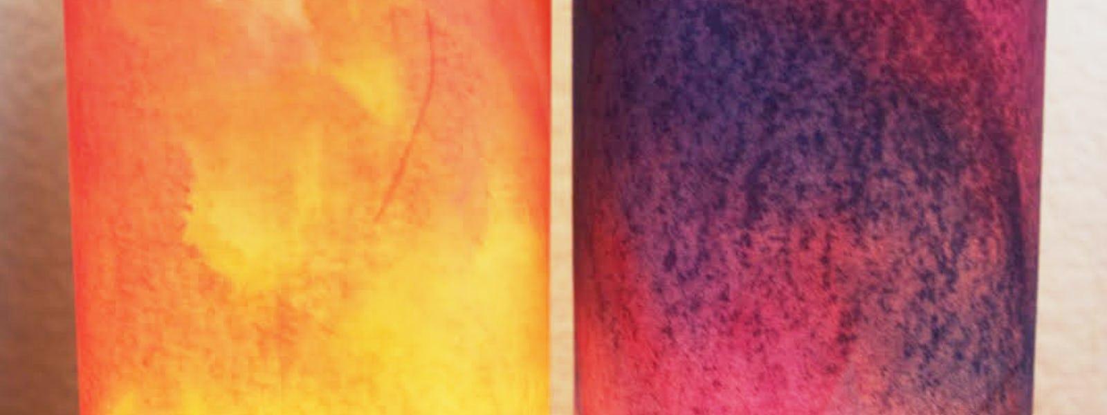 Bild - Skapandeverkstad: Akvarell och tryck på rispapper