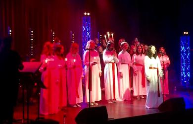 Bild - Luciakonsert med C4-gymnasiet
