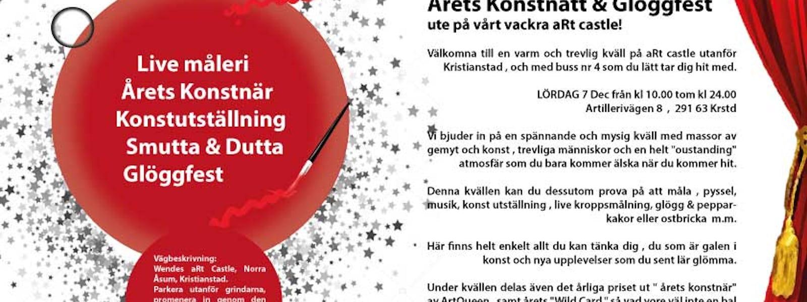 Bild - Konstnatt och glöggfest